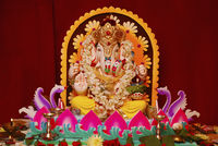 Decorated Ganapti idol during Ganapati Festival, Pune.