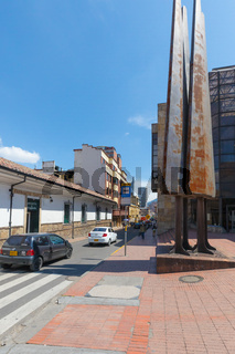 Bogota monument of the Luis Angel Arango library