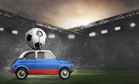 Russia, car on football stadium