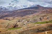 Kibber village in Himalayas