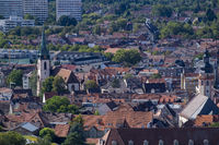 Ausblick vom Turmberg auf Karlsruhe