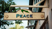 Street Sign to Peace