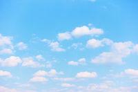Pastel blue spring sky