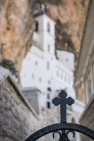 Cross in front of the Ostrog Orthodox monastery