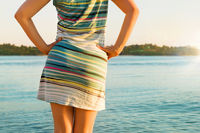 Beautiful girl enjoying vacation on tropical island.