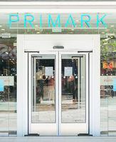 Primark logo sign above entrance door
