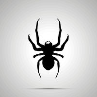 Insect icon, simple black silhouette