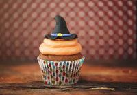 Halloween design homemade cupcake