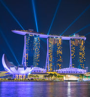 Marina Bay lights show. Singapore