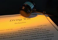Living Will and gavel