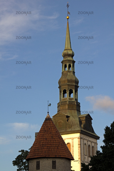 Tallinn, temples, towers and bell towers inside the castle