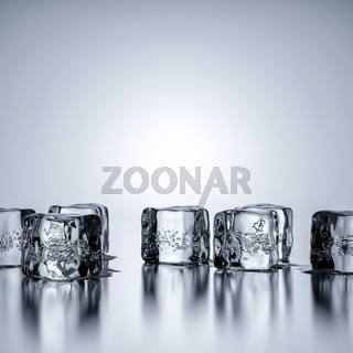 Some ice cubes with copy space for your content