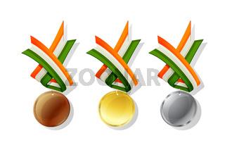 Ireland vector medals set