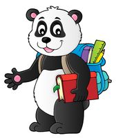 School panda theme image 1