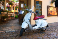White scooter in Prague