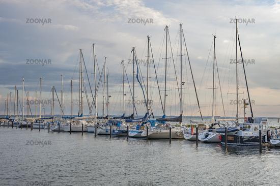 Yachthafen in Orth auf der Insel Fehmarn
