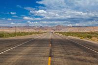 On the desert highway, Utah, USA