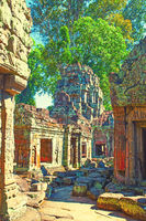 Ancient ruins of temple