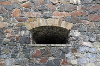 Opening in the Wall in Suomenlinna Fortress
