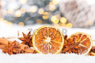 Weihnachten Weihnachtsdekoration Orange Dekoration Winter Schnee