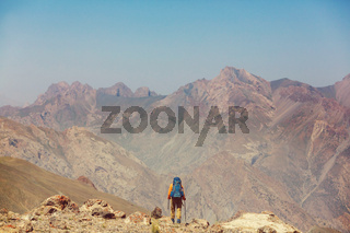 Hike in Fann mountains