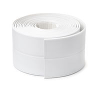 Roll of white adhesive flexible caulk strip