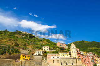View over the colourful houses of Cinque Terre