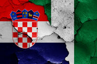flags of Croatia and Nigeria