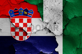 flags of Croatia and Nigeria
