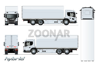 Vector cargo truck generation hybrid engine template