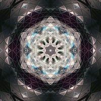 Dark mandala circle