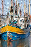 Prawn fishing boat in Dutch harbor Lauwersoog