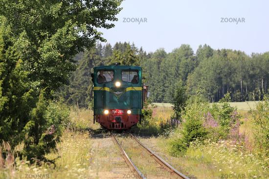 Lights of Vintage TU4 Diesel Locomotive