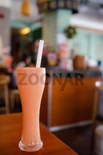 A Large Glass of Papaya Milk Drink