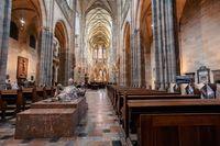 interior of Vitus Cathedral, Czech Republic