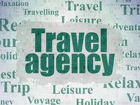 Travel concept: Travel Agency on Digital Data Paper background