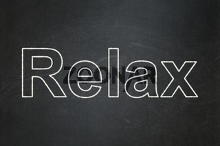 Tourism concept: Relax on chalkboard background