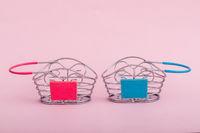 Empty Miniature Shopping Baskets