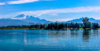Mount Baker on Blue Lake
