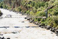 Brücke zum Inkatrail Peru