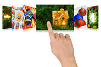 Hand scrolling christmas images
