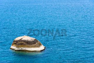 Rock and the blue sea at Koh Samui