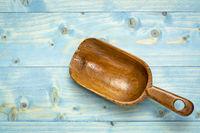 rustic wooden scoop