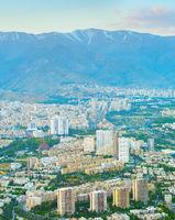 Tehran aerial view, Iran