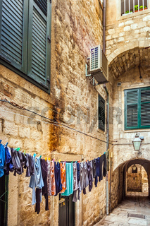 In the old Town of Dubrovnik Croatia