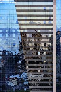 Office building glass facade