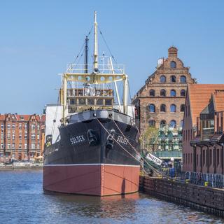 Steamship Soldek Moored Outside The National Maritime Museum  Gdansk, Poland