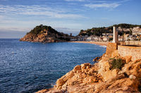Town of Tossa de Mar at Sunrise