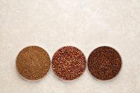 teff, quinoa and kaniwa gluten free grains