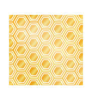 Abstract hexagons on white, luxury geometric seamless pattern